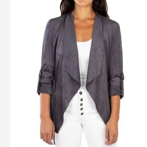 Kut From The Kloth Diane Faux Suede Jacket Gray XS